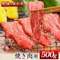 肥後のあか牛 焼き肉用 500g 長洲501 熊本 特産 あか牛《30日以内に順次出荷(土日祝除く)》