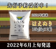 A-18822061【2022年6月上旬発送】はえぬき10kg(5kg×2袋)山形県河北町産米【米comeかほく協同組合】