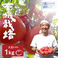 《事前予約》《期間・数量限定》ひだかみ流葉 コクと旨味の有機大玉トマト 有機JAS認定 合計1kg