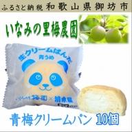 いなみの里梅園 青梅クリームパン(10個)