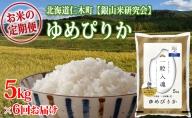 ≪新米予約≫6ヶ月連続お届け【ANA機内食に採用】銀山米研究会のお米<ゆめぴりか>5kg