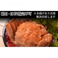 利尻島漁師炊き上げ!! 絶品浜茹で毛蟹500g以上1尾※クレジット決済限定
