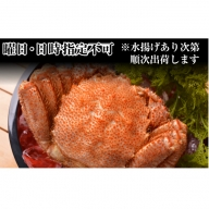 【日時指定不可】利尻島漁師炊き上げ!!絶品浜茹で毛蟹700g以上1尾