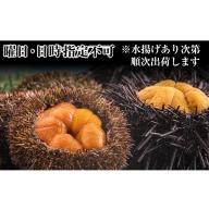 【日時指定不可】【生うに食べ比べ!】利尻天然生うに エゾバフンウニ&キタムラサキウニ食べ比べセット(200g)