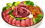 015B064 BBQ&焼肉 最強3種暴れ盛り!! 合計1.5kg(3~4名向け)