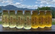 田沢湖産天然はちみつアカシア蜜1kg×4本、トチ蜜1kg×3本(化粧箱入り)