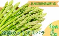 役に立ちます 冷凍カット野菜 夏アスパラ4本分×8袋