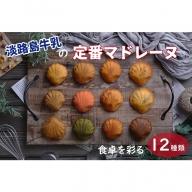 FI31:淡路島牛乳の定番マドレーヌ 食卓を彩る12種類