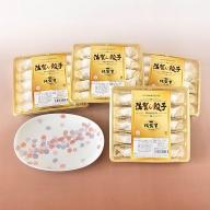 E2−006.プレミアム佐賀牛餃子と有田焼皿(さくら)