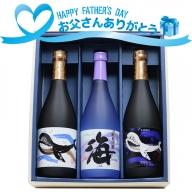 A1-2563/【父の日までにお届け】父の日 大海酒造  720ml 3本セット