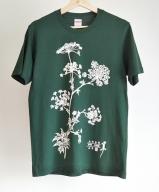 オリジナルTシャツ 薬草 大和当帰 デザイン アイビーグリーン M/ぎゃらりー山百 奈良県 宇陀市