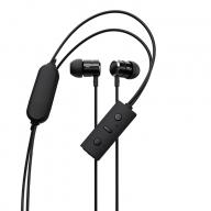 ネックレスタイプ Bluetooth5 ワイヤレス ステレオイヤホン ブラック  OWL-BTEP09S