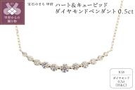 ハート&キューピッドダイヤモンド0.5ct 18金 ペンダントネックレス [AGANS0615K]