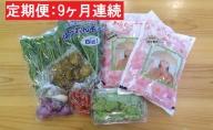 【9ヶ月】一等米あきたこまち4kgと五城目の幸3~7品程度(野菜・果物・加工品)【定期便】