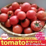 田舎の頑固おやじが厳選! tomato食べ比べセット 3~5種類・約1.5〜2kg【令和3年4月から順次お届け】