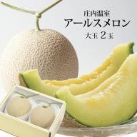 SB0193 酒田の果物専門店厳選 庄内温室 特大 アールスメロン 約4.5kg(2玉入)