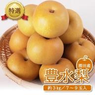 SA0797 刈屋産 豊水梨 約3kg(6~9玉入)