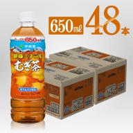 健康ミネラル むぎ茶650ml×24本×2ケースPET