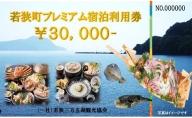 若狭町プレミアム宿泊利用券(30,000円)