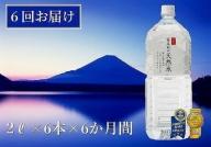 【6か月連続】 富士山の天然水 2リットル×6本 <毎月お届けコース>