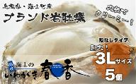 【殻剥き不要】ブランド岩牡蠣「春香」殻なし巨大3Lサイズ×5個(1.6kg~2kg)