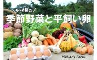 季節の野菜詰め合わせ(5~6種)と平飼い卵セット!農薬不使用だから安心安全!
