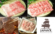 JAPAN X&特選厚り切牛タンセット1.7kg(バラ肩ロース小間・牛タン)