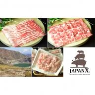 JAPAN X3種スライスセット2.8kg(バラ肩ロース小間)