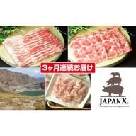 【3ヶ月連続】JAPAN X3種スライスセット2.8kg(バラ肩ロース小間)
