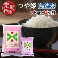 SH0003 【6回定期便】無洗米つや姫 7kg×6回(計42kg) TO