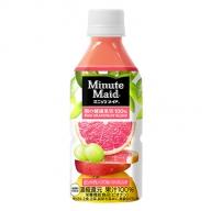 PET350ml×24本 ミニッツメイド朝の健康果実ピンクグレープフルーツ