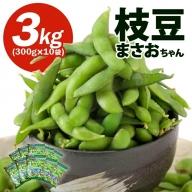 SA0495 山形県庄内産 枝豆3kg(300g×10袋)「えだまめ まさおちゃん」