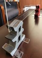 創業百年 「飛沫感染防止アイテム」 鋳鉄製 アクリルボードスタンド 干支 漢字 ユニーク デザイン ハンドメイド