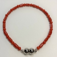 【D-16】赤珊瑚:海の宝石ブレスレット
