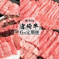【定期便 6回】受賞歴多数!! 宮崎牛を6ヶ月で合計3.25キロ 宮崎牛づくし