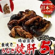 a0-166 楠田の極うなぎ 素焼き焼肝(50g×5袋・たれ付き)