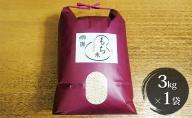 特別栽培米 日進市産もち米 3kg×1袋