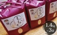 特別栽培米 日進市産もち米 1.4kg×3袋