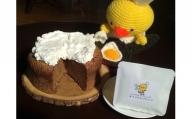 十勝産チーズのクリーム添えたパインとクルミのケーキとコーヒーセット