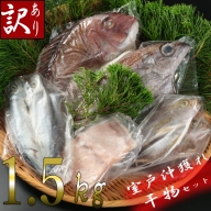 NK032【訳あり】地魚干物セット(約1.5kg)