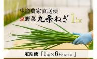 【6か月定期便】生産農家直送 京野菜・九条ねぎ  1kg×6回