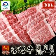 【枕崎産黒毛和牛・宮路牛】肩ロース300g 焼肉 A4等級 MM-88