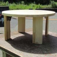 099H290 手作り木製 ちゃぶ台脚折れ金具仕様