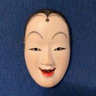 【椎葉神楽面】古川三鶴亀作 招福面(女面)伝統工芸品【椎葉の伝統と文化を感じる匠の技】