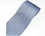 郡内織物「富士桜工房」シルクネクタイ 麻の葉 水色