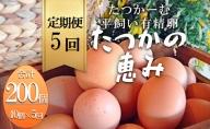 平飼い有精卵『たつかの恵み』40個× 5ヶ月連続お届け