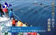 ホエール&流氷バードウォッチング乗船券(各1名分) F21M-073