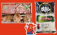 はこだて和牛(焼肉&切落し)と木古内産お米のセット