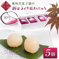 風味堂菓子舗の新富ライチ葛まんじゅう【A232】