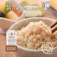 [A017] 【無農薬】【玄米】能登のこだわり自然栽培こしひかり『羽咋米』 3kg